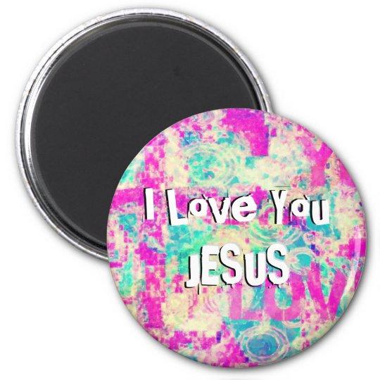 I Love You JESUS Magnet