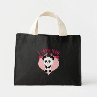 I love you Kawaii Panda cute totes Mini Tote Bag