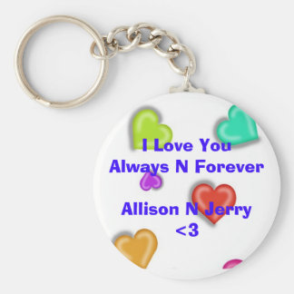 I Love You Basic Round Button Key Ring