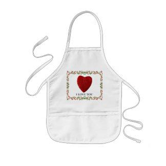 I love you kids apron