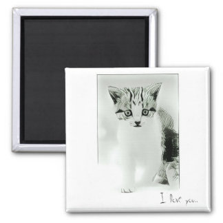 I love you Kitten Magnet