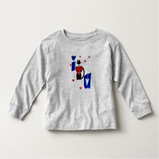 I Love You-kitty heart Toddler T-Shirt