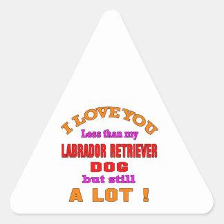 I love you Labrador Retriever Dog Triangle Sticker