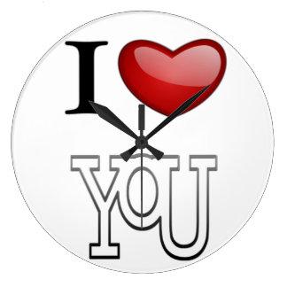 I Love You Large Clock