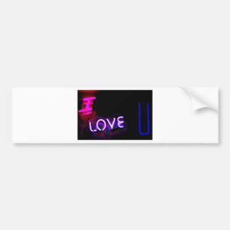I love you light neon sign AT night photograph ROM Bumper Sticker