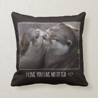 I Love You Like No Otter Cute Photo Cushion