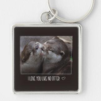 I Love You Like No Otter Cute Photo Key Ring