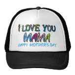 I Love You Mama Shirts Mesh Hats