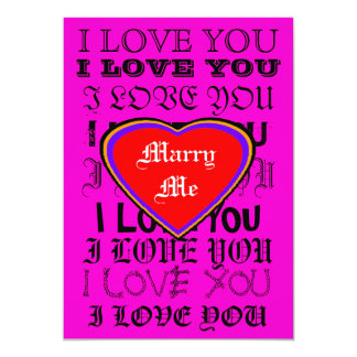 I LOVE YOU Marry Me The MUSEUM Zazzle Gifts 13 Cm X 18 Cm Invitation Card