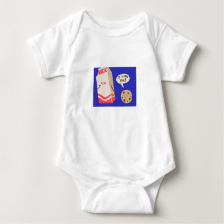 I love you Milk (Baby Jersey Bodysuit) Baby Bodysuit