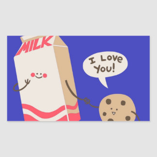 I love you Milk (Rectangle Stickers) Rectangular Sticker