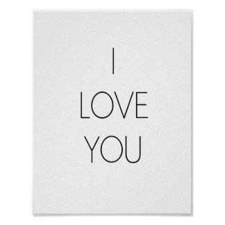 I love you - Minimalist Poster
