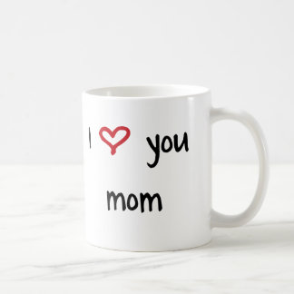 I Love You, Mom Basic White Mug