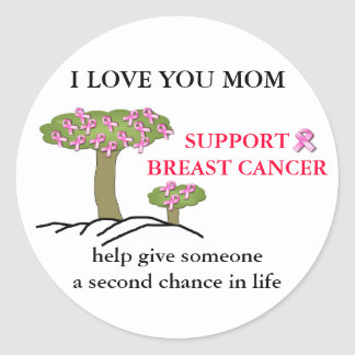 I LOVE YOU MOM Breast Cancer Sticker