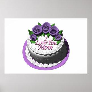 I Love You Mom Cake Poster