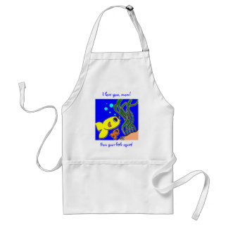 I love you, mom! From your little squirt! Standard Apron