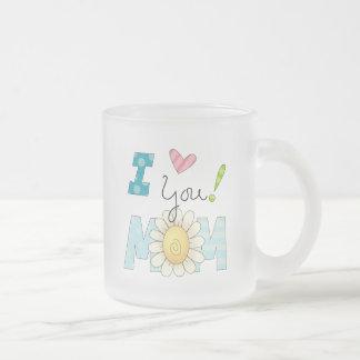 I Love You Mom Frosted Mug