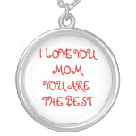I LOVE YOU MOM PERSONALISED NECKLACE