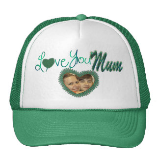 I love you mom photo hats for mum