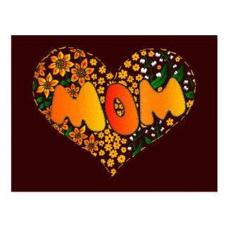 I love you mom post card