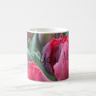 I Love You, Mom! Red Tulip Mug