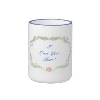I Love You  Mom! Ringer Mug