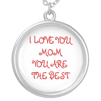 I LOVE YOU MOM SILVER PLATED NECKLACE