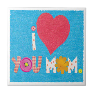 i love you mom small square tile