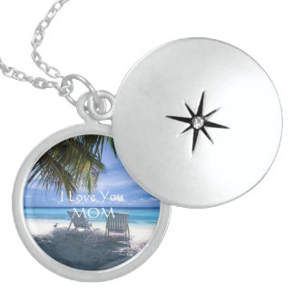 I LOVE YOU MOM Sterling Silver LOCKET Necklace