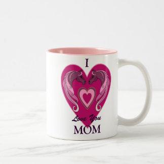 I Love You Mom Two Tone Mug