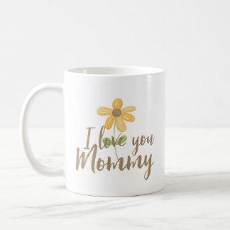 I Love You Mommy, Yellow Flower Mug