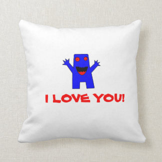 I LOVE YOU! monster pillow