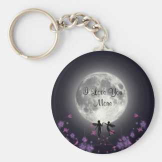 I Love You More Basic Round Button Key Ring