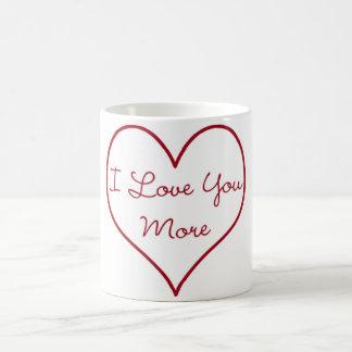 I Love You More Basic White Mug