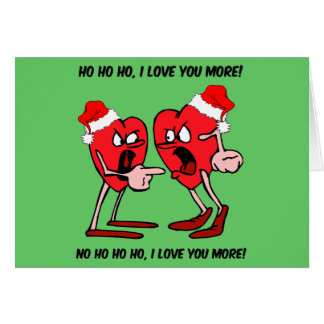 I love you more Christmas Card