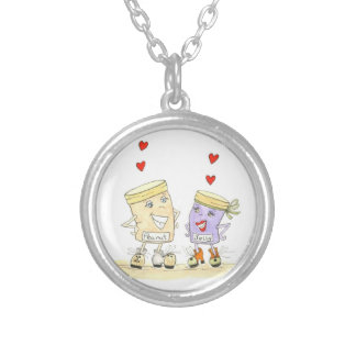 I Love you more peanut butter and jelly necklace