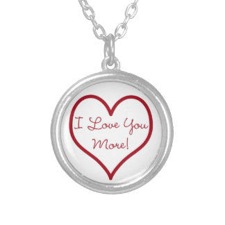 I Love You More Round Necklace