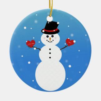 I Love You More Snowman Christmas Ornament