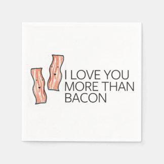 I Love you More Than Bacon Disposable Napkins