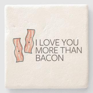I Love you More Than Bacon Stone Coaster