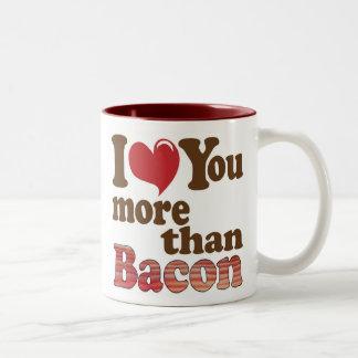 I Love You More Than Bacon Two-Tone Coffee Mug