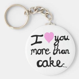I Love You More Than Cake Key Ring Basic Round Button Key Ring