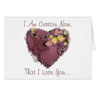 I Love You More Than Chocolate! Card