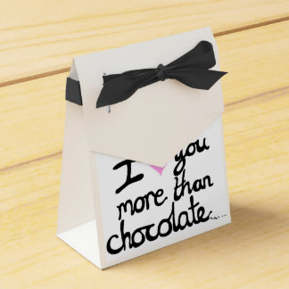 I Love You More Than Chocolate Favour Boxes