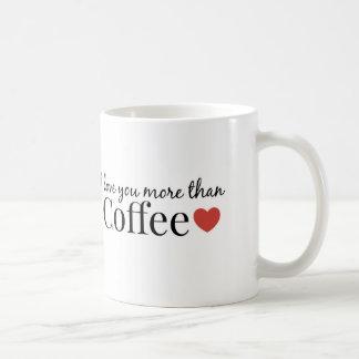 I love you more than Coffee. Coffee Mug