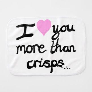 I Love You More Than Crisps Burp Cloth