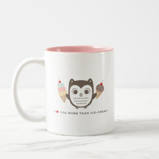 I love you more than ice cream 11 oz. White Mug