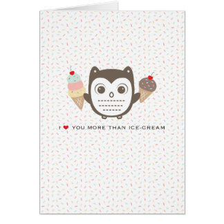 "I love you more than ice cream- 5x7"" love card"