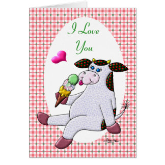 I Love You More Than Ice Cream Greeting Card
