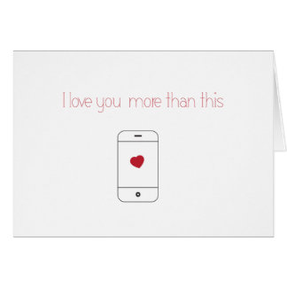 I Love You More Than My iPhone {Valentine's Day} Card